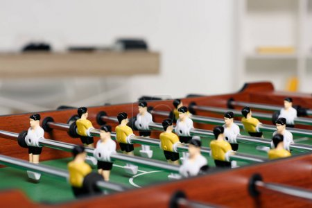 table football in living room at home