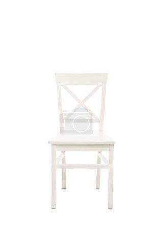 Photo pour Chaise moderne en bois blanc isolé sur blanc - image libre de droit