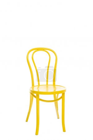 Photo for Comfortable yellow chair isolated on white - Royalty Free Image