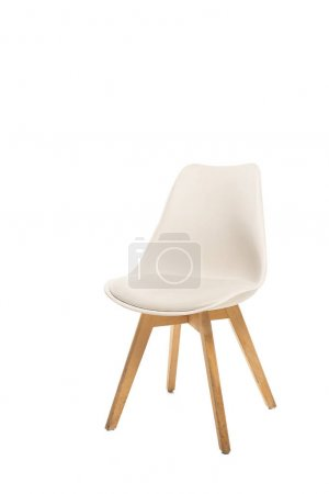 Photo for Modern beige chair isolated on white - Royalty Free Image