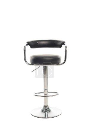 Photo pour Tabouret de bar noir moderne isolé sur blanc - image libre de droit