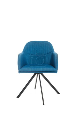 Trendy blue armchair isolated on white