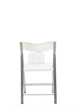 Photo for White chair with copy space isolated on white - Royalty Free Image
