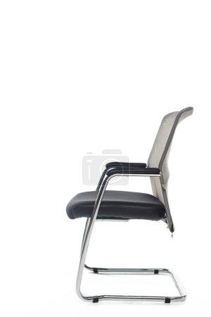 Photo pour Chaise moderne noire isolée sur blanc - image libre de droit
