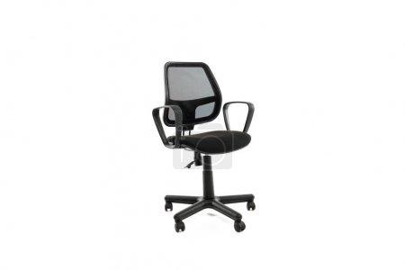Photo pour Chaise de bureau confortable avec roues isolées sur blanc - image libre de droit