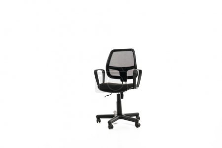 Comfortable office chair with copy space isolated on white