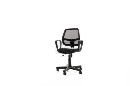 Photo pour Chaise de bureau confortable avec espace de copie isolé sur blanc - image libre de droit