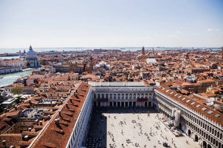 Photo for High angle view of Piazza San Marco and ancient buildings in Venice, Italy - Royalty Free Image