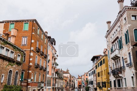 Photo for Ancient and colorful buildings with plants in Venice, Italy - Royalty Free Image