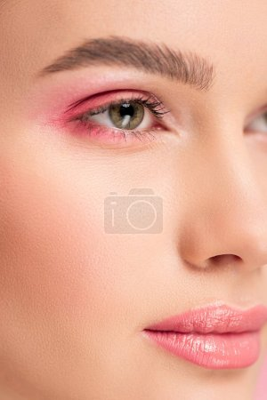 Photo for Close up of beautiful girl with pink makeup - Royalty Free Image