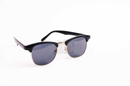 Photo for Stylish sunglasses isolated on white with copy space - Royalty Free Image