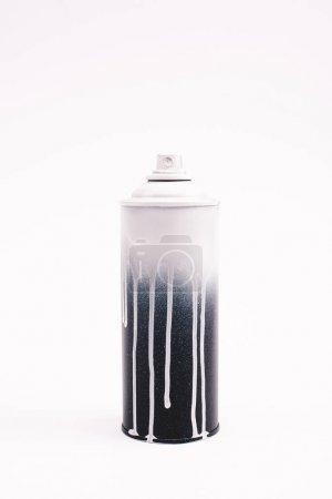 metallic graffiti paint bottle isolated on white