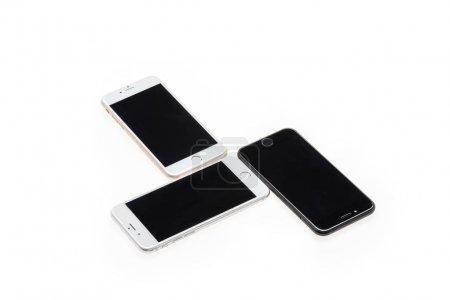 Smartphones with blank screens