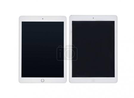 digital tablets with blank screens