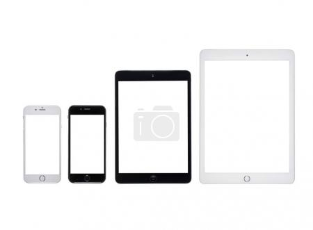 Digital devices with blank screens