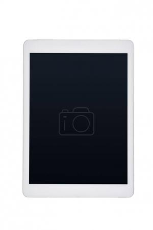 Photo for Top view of digital tablet with blank screen isolated on white - Royalty Free Image