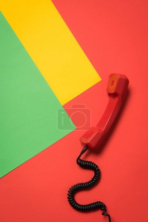 Red telephone handset