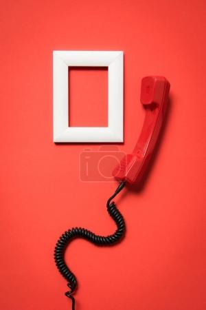 Telephone handset and frame