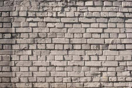 Photo for Close-up view of white grungy brick wall textured background - Royalty Free Image