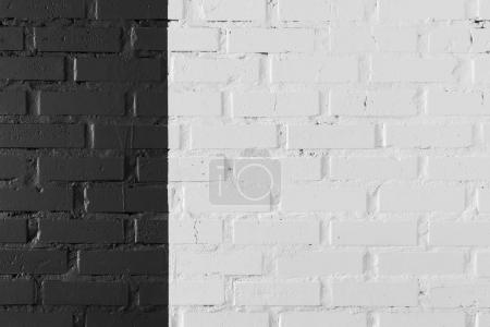Photo for Close-up view of black and white brick wall textured background - Royalty Free Image
