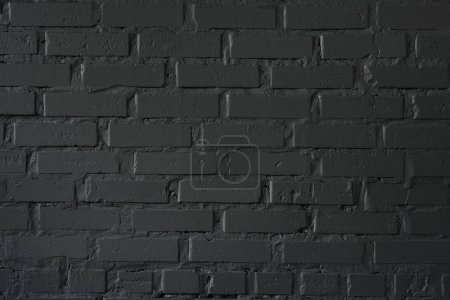 Photo for Close-up view of black brick wall textured background - Royalty Free Image