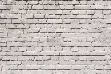 Photo for Full frame of white grunge textured brick wall background - Royalty Free Image