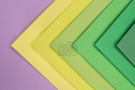 Photo for Green, yellow and purple pastel background - Royalty Free Image