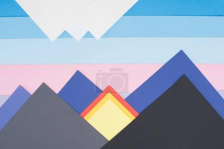 colored decorative mountains made of paper