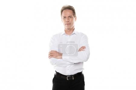 mature businessman in formal wear
