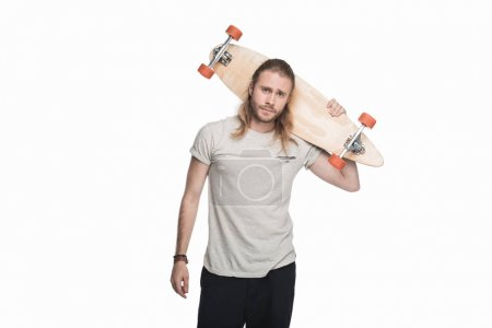 young man with longboard
