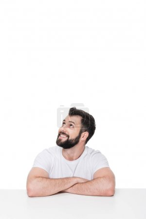 Handsome young bearded man