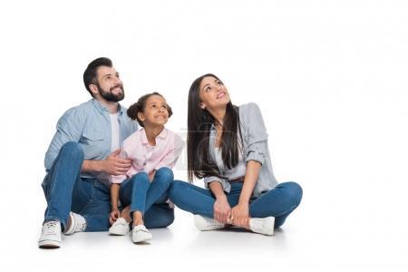 Happy multiethnic family