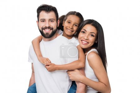 happy multiethnic family