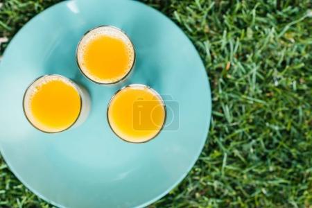 Fresh juice in glasses
