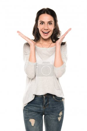attractive excited woman