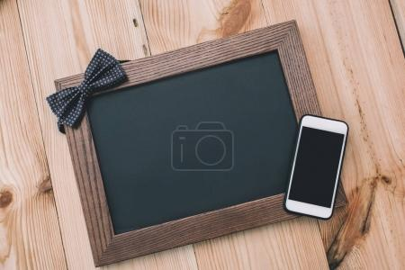 smartphone and blank frame