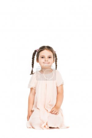 Adorable girl in dress