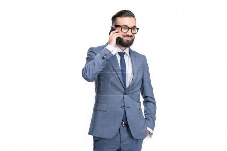 homme d'affaires à l'aide de smartphone