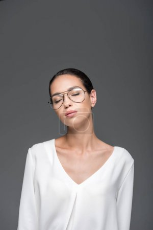 sensual woman with closed eyes