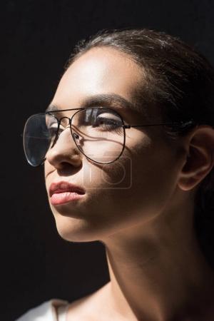 Stylish woman in eyeglasses