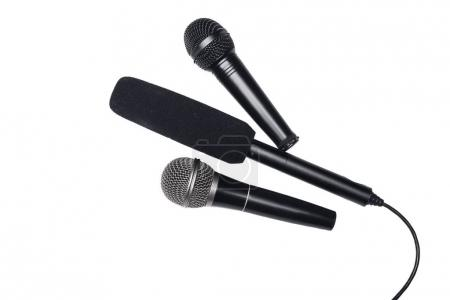 Different black microphones