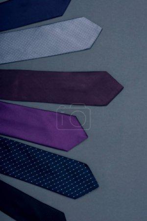 arranged various neckties