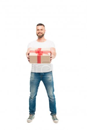 Bearded man with gift