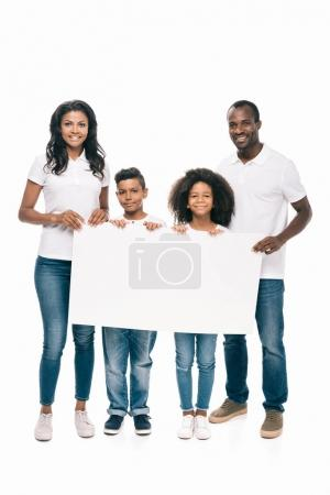 african american family with banner