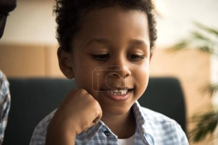 Smiling african american child