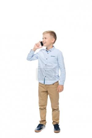 child talking on smartphone