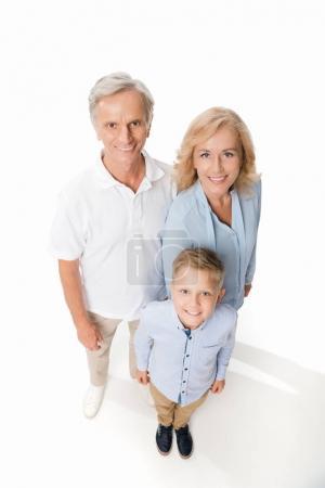 happy grandparents with grandchild