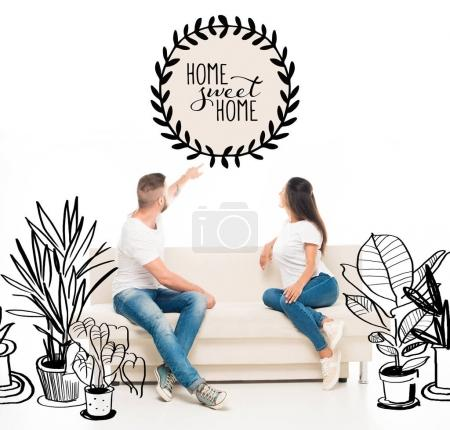 Attractive couple on couch