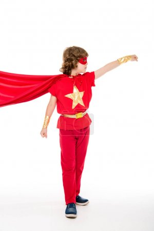 superhero boy with waving cape