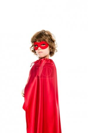 superhero boy with red cape